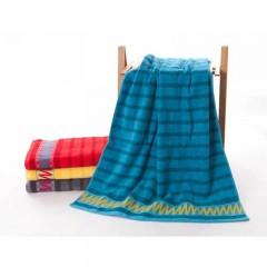 浴巾GA3106蓝红黄灰