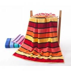 浴巾GA3111桔红蓝