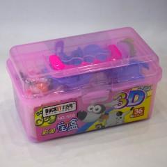 小吉鸭36色3D彩泥宝盒 519