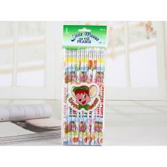 中华小老鼠铅笔 6080 10支装小皮头  袋装