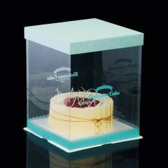 清新青色 透明翻糖盒(绿)