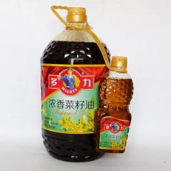 多力浓香菜籽油5L