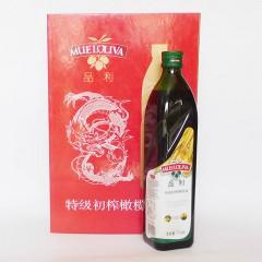 品利特级初榨橄榄油礼盒750mlx2
