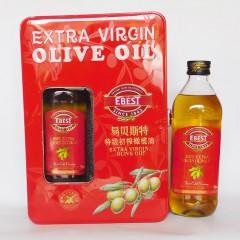 易贝斯特特级初榨橄榄油礼盒750mlx2