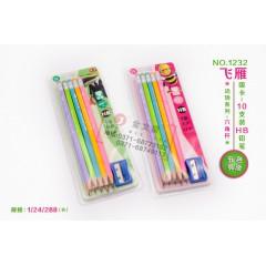 飞雁动物吸卡装铅笔 1235  HB   10支卡装