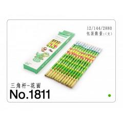 飞雁花杆铅笔 1811     12支盒装