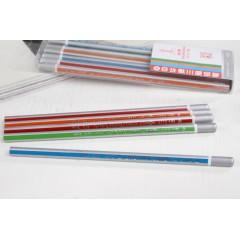 中华透明盒装铅笔 6713  12支装 沾顶 三角杆