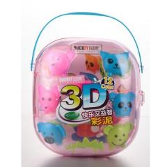 小吉鸭3D 12色彩泥   327