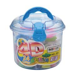 小吉鸭3D 24色彩泥   301
