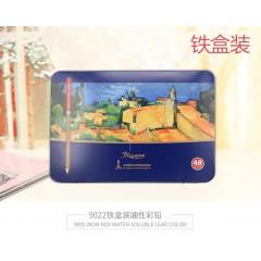中华牌9022油性彩色铅笔24/36/48色铁盒