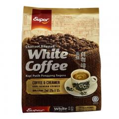 超级牌进口炭烧白咖啡粉 二合一300g