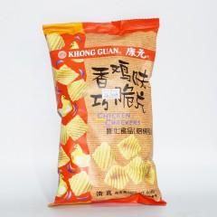 康元 香鸡味巧脆片 膨化食品(焙烤型)60g