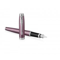 15IM丁香紫白夹钢笔
