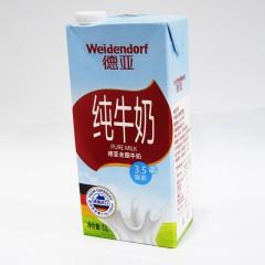 德亚纯牛奶 德亚全脂牛奶 3.5脂肪 1L
