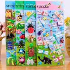 SL-VR昆虫动物泡泡贴儿童卡通立体海绵贴纸