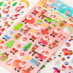 闪乐SL-VF创意圣诞水晶滴胶贴纸