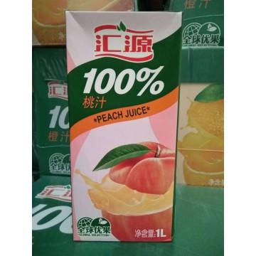 汇源1L100%桃汁