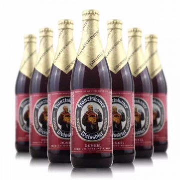 德国进口教士黑白啤酒500ml*20范佳乐小麦啤酒瓶装