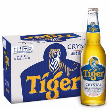 虎牌晶纯啤酒300ml*24瓶整箱小瓶虎牌啤酒