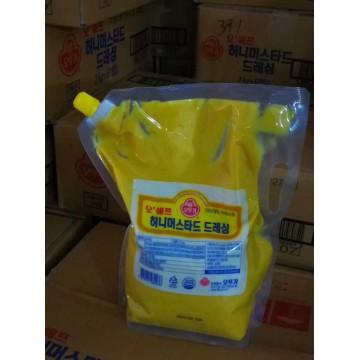 韩国进口不倒翁蜂蜜芥末酱韩式炸鸡酱料蘸酱裹酱料调料2kg*6