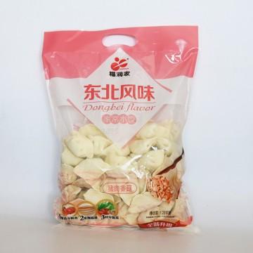 福润家 东北风味 家常水饺 猪肉香菇1.28kg