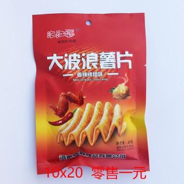 汇江源 大波浪薯片 香辣烤翅味 45g