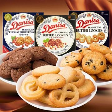 印尼进口皇冠丹麦曲奇饼干90g休闲零食品