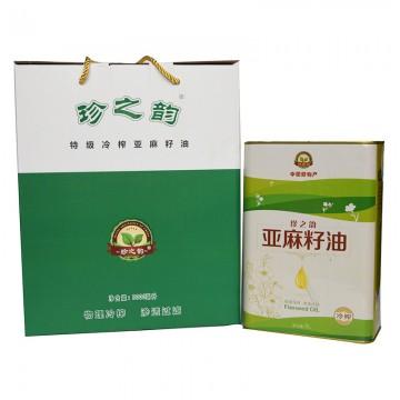 珍之韵 特级冷榨亚麻籽油 3L