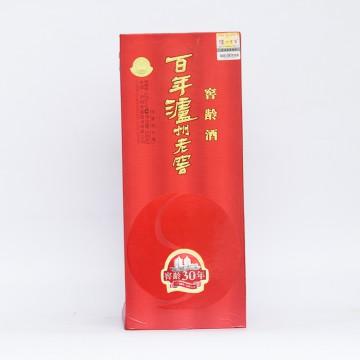 百年泸州老窖 窖龄酒30年 浓香型白酒 52度 500ml