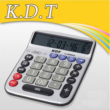 科灵通6200A真人语音12位大屏幕计算器简约办公商务计算机