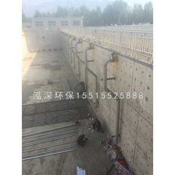 新蔡县污水处理厂安装工地