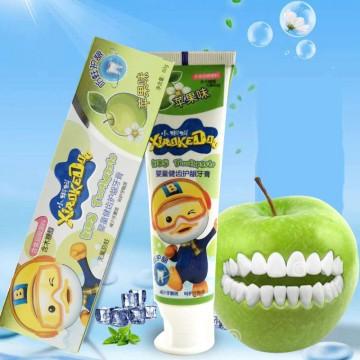 小蝌蚪儿童牙膏水果味婴童健齿护龈宝宝牙膏草莓味苹果味