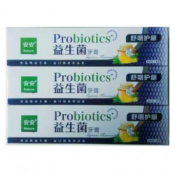 安安益生菌牙膏180g 清新口气健康更清新薄荷味牙膏厂家批发