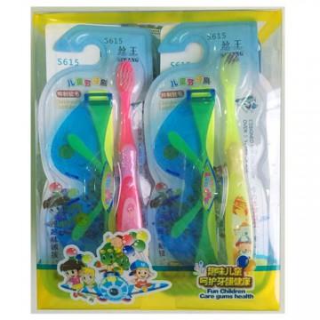 儿童牙刷趣味呵护儿童牙刷送眼镜套装厂家批发