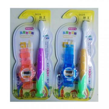 儿童牙刷送电子手表儿童节软毛厂家直销批发