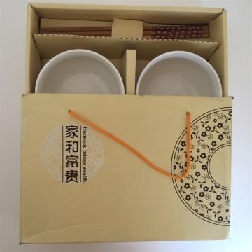 家和富贵两瓷碗&两双筷