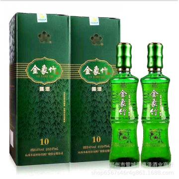 批发山西特产45°金象竹露酒汾阳竹叶杏花村盒装白酒