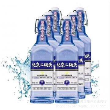 批发白酒42度北京华都二锅头清香型国际出口型方瓶白酒