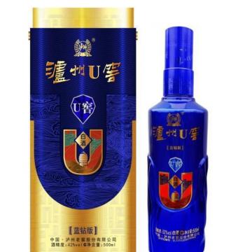 批发白酒42度泸州系列蓝色U窖蓝钻版浓香型纯粮白酒