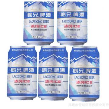 批发啤酒8度崂兄山东冰纯ICE清爽型精酿啤酒听装易拉罐