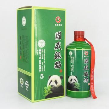 贵州国威熊猫酒5 53度酱香型白酒500ml一件六瓶招商