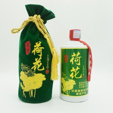 贵州富贵荷花酒1916酱香型白酒53度500ml
