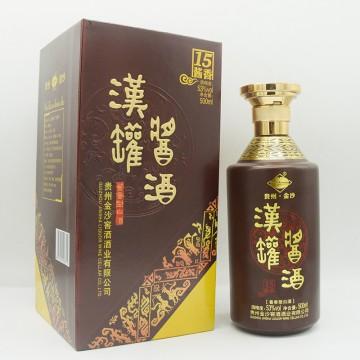金沙汉罐酱酒酱香15酱香型白酒53度500ml