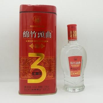 绵竹头曲精品3浓香型白酒52度500ml