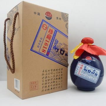 斗天台珍藏1618香柔酱香白酒53度500ml