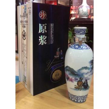汾酒原浆珍藏陶瓷瓶53度清香型白酒475ml一件六瓶