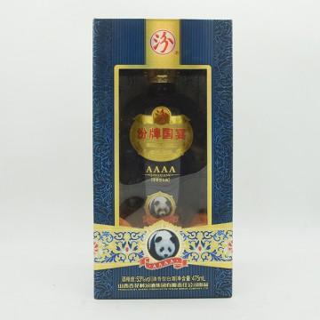汾酒汾牌国宴4A熊猫清香型白酒53度475ml