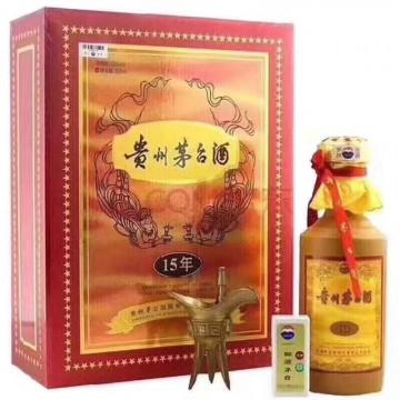 茅台酒十五年茅台陈酿53度500ml酱香型白酒纪念珍藏酒陈酒