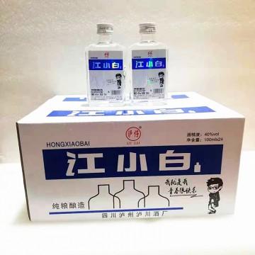 批发40°讧小白小瓶白酒100*24清香型高粱酒小白酒