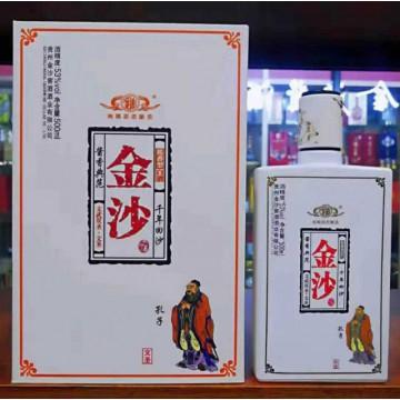 金沙文武双圣53度酱香型白酒500ml一件四瓶